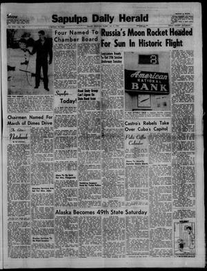 Primary view of Sapulpa Daily Herald (Sapulpa, Okla.), Vol. 44, No. 104, Ed. 1 Sunday, January 4, 1959