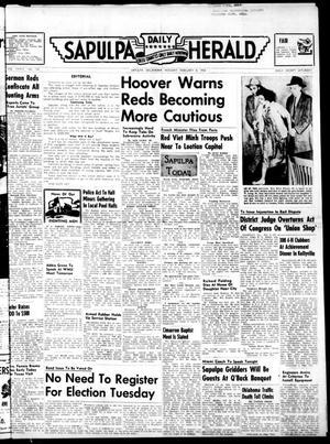 Primary view of Sapulpa Daily Herald (Sapulpa, Okla.), Vol. 39, No. 134, Ed. 1 Monday, February 8, 1954