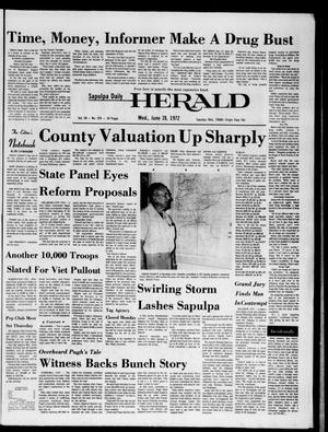 Primary view of object titled 'Sapulpa Daily Herald (Sapulpa, Okla.), Vol. 58, No. 259, Ed. 1 Wednesday, June 28, 1972'.