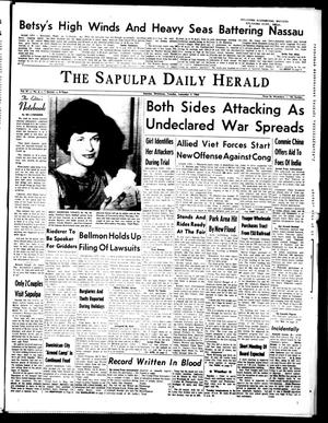 Primary view of object titled 'The Sapulpa Daily Herald (Sapulpa, Okla.), Vol. 51, No. 6, Ed. 1 Tuesday, September 7, 1965'.