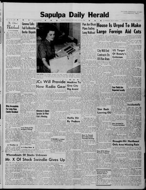 Primary view of Sapulpa Daily Herald (Sapulpa, Okla.), Vol. 47, No. 269, Ed. 1 Wednesday, July 25, 1962
