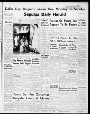 Primary view of object titled 'Sapulpa Daily Herald (Sapulpa, Okla.), Vol. 46, No. 81, Ed. 1 Sunday, December 18, 1960'.