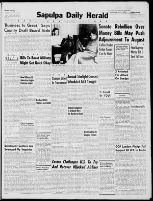 Primary view of Sapulpa Daily Herald (Sapulpa, Okla.), Vol. 46, No. 270, Ed. 1 Thursday, July 27, 1961