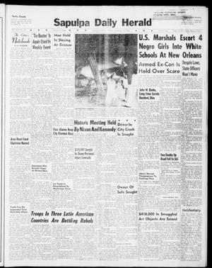 Primary view of Sapulpa Daily Herald (Sapulpa, Okla.), Vol. 46, No. 53, Ed. 1 Monday, November 14, 1960