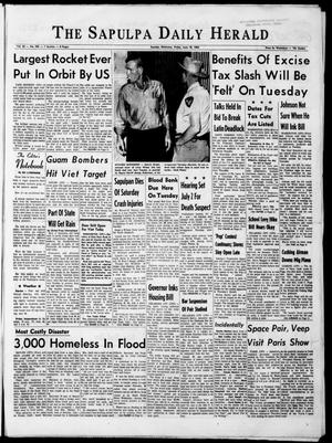 Primary view of The Sapulpa Daily Herald (Sapulpa, Okla.), Vol. 50, No. 249, Ed. 1 Friday, June 18, 1965