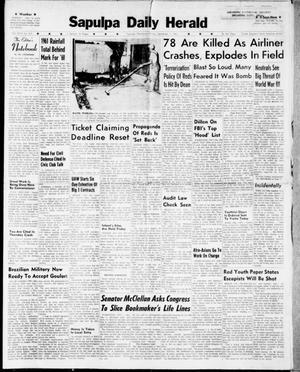 Primary view of Sapulpa Daily Herald (Sapulpa, Okla.), Vol. 46, No. 301, Ed. 1 Friday, September 1, 1961