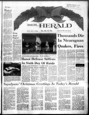 Primary view of Sapulpa Daily Herald (Sapulpa, Okla.), Vol. 59, No. 87, Ed. 1 Sunday, December 24, 1972