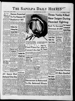 Primary view of The Sapulpa Daily Herald (Sapulpa, Okla.), Vol. 50, No. 274, Ed. 1 Monday, July 19, 1965