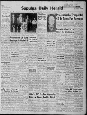 Primary view of Sapulpa Daily Herald (Sapulpa, Okla.), Vol. 46, No. 145, Ed. 1 Thursday, March 2, 1961