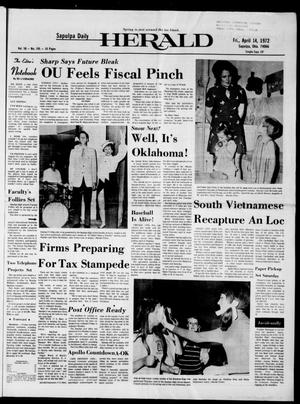 Primary view of Sapulpa Daily Herald (Sapulpa, Okla.), Vol. 58, No. 195, Ed. 1 Friday, April 14, 1972