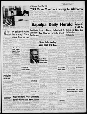 Primary view of Sapulpa Daily Herald (Sapulpa, Okla.), Vol. 46, No. 214, Ed. 1 Monday, May 22, 1961