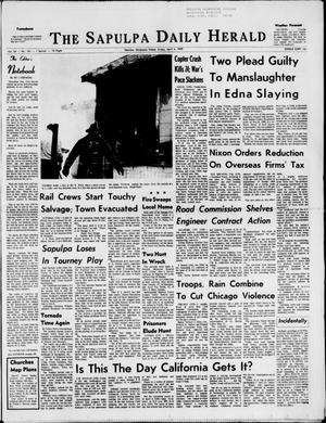 Primary view of Sapulpa Daily Herald (Sapulpa, Okla.), Vol. 54, No. 185, Ed. 1 Friday, April 4, 1969