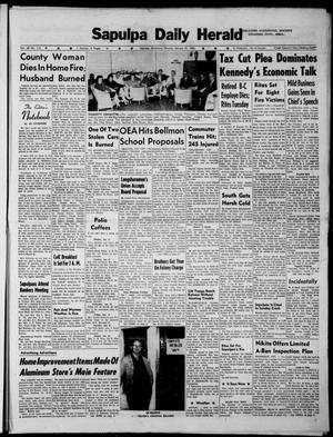 Primary view of Sapulpa Daily Herald (Sapulpa, Okla.), Vol. 48, No. 110, Ed. 1 Monday, January 21, 1963