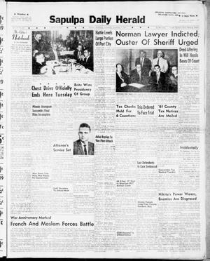 Primary view of Sapulpa Daily Herald (Sapulpa, Okla.), Vol. 47, No. 44, Ed. 1 Wednesday, November 1, 1961