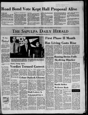 Primary view of The Sapulpa Daily Herald (Sapulpa, Okla.), Vol. 58, No. 123, Ed. 1 Friday, January 21, 1972
