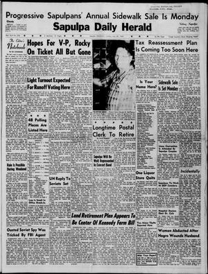Primary view of Sapulpa Daily Herald (Sapulpa, Okla.), Vol. 45, No. 276, Ed. 1 Sunday, July 24, 1960
