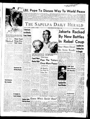 Primary view of The Sapulpa Daily Herald (Sapulpa, Okla.), Vol. 51, No. 28, Ed. 1 Sunday, October 3, 1965