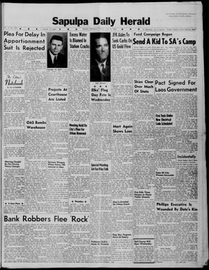 Primary view of Sapulpa Daily Herald (Sapulpa, Okla.), Vol. 47, No. 233, Ed. 1 Tuesday, June 12, 1962