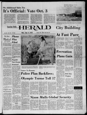 Primary view of Sapulpa Daily Herald (Sapulpa, Okla.), Vol. 58, No. 318, Ed. 1 Wednesday, September 6, 1972