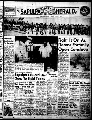 Primary view of Sapulpa Daily Herald (Sapulpa, Okla.), Vol. 41, No. 292, Ed. 1 Monday, August 13, 1956