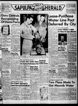 Primary view of Sapulpa Daily Herald (Sapulpa, Okla.), Vol. 41, No. 145, Ed. 1 Tuesday, February 21, 1956