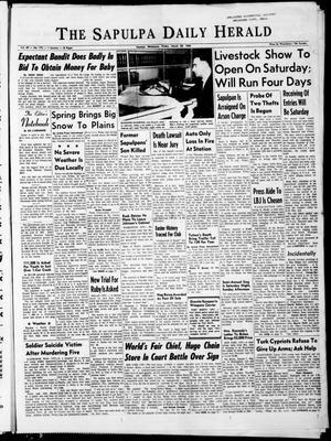 Primary view of The Sapulpa Daily Herald (Sapulpa, Okla.), Vol. 49, No. 172, Ed. 1 Friday, March 20, 1964