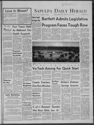 Primary view of Sapulpa Daily Herald (Sapulpa, Okla.), Vol. 54, No. 111, Ed. 1 Wednesday, January 8, 1969