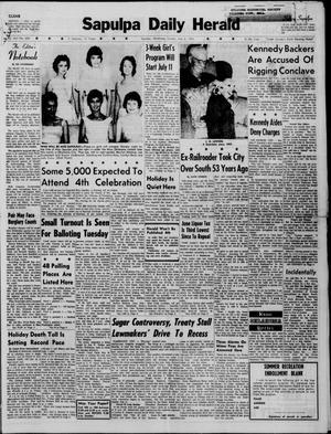 Primary view of Sapulpa Daily Herald (Sapulpa, Okla.), Vol. 45, No. 259, Ed. 1 Sunday, July 3, 1960