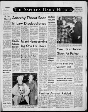 Primary view of The Sapulpa Daily Herald (Sapulpa, Okla.), Vol. 56, No. 85, Ed. 1 Monday, December 8, 1969