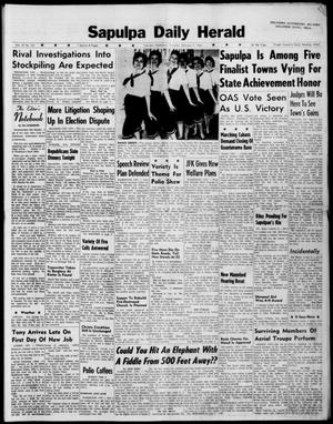 Primary view of Sapulpa Daily Herald (Sapulpa, Okla.), Vol. 47, No. 121, Ed. 1 Thursday, February 1, 1962