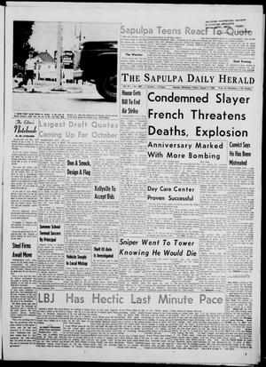 Primary view of The Sapulpa Daily Herald (Sapulpa, Okla.), Vol. 51, No. 290, Ed. 1 Friday, August 5, 1966