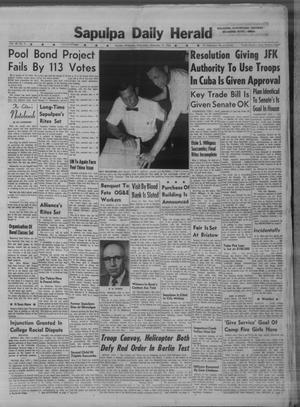 Primary view of Sapulpa Daily Herald (Sapulpa, Okla.), Vol. 48, No. 5, Ed. 1 Wednesday, September 19, 1962