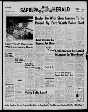 Primary view of Sapulpa Daily Herald (Sapulpa, Okla.), Vol. 42, No. 203, Ed. 1 Tuesday, April 30, 1957