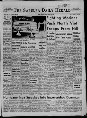 Primary view of The Sapulpa Daily Herald (Sapulpa, Okla.), Vol. 52, No. 22, Ed. 1 Thursday, September 29, 1966