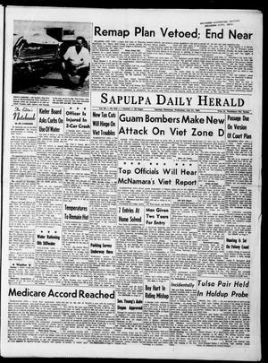 Primary view of The Sapulpa Daily Herald (Sapulpa, Okla.), Vol. 50, No. 276, Ed. 1 Wednesday, July 21, 1965