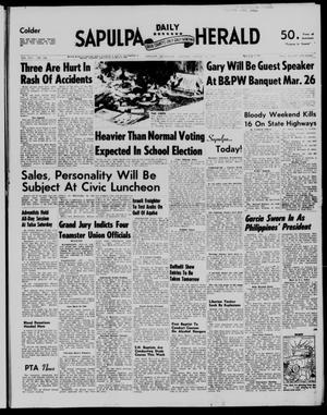 Primary view of Sapulpa Daily Herald (Sapulpa, Okla.), Vol. 42, No. 166, Ed. 1 Monday, March 18, 1957