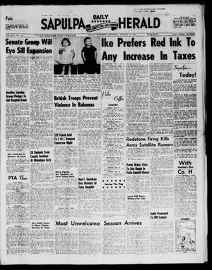 Primary view of Sapulpa Daily Herald (Sapulpa, Okla.), Vol. 43, No. 114, Ed. 1 Wednesday, January 15, 1958