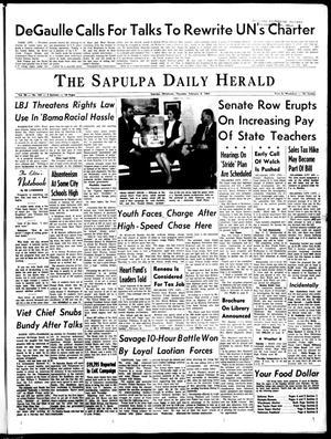 Primary view of The Sapulpa Daily Herald (Sapulpa, Okla.), Vol. 50, No. 134, Ed. 1 Thursday, February 4, 1965