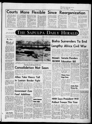 Primary view of The Sapulpa Daily Herald (Sapulpa, Okla.), Vol. 56, No. 115, Ed. 1 Monday, January 12, 1970