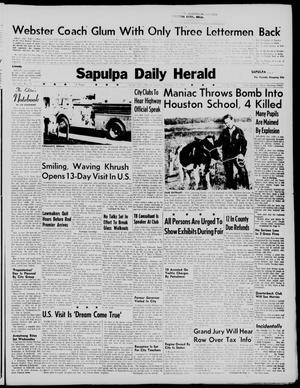 Primary view of Sapulpa Daily Herald (Sapulpa, Okla.), Vol. 45, No. 12, Ed. 1 Tuesday, September 15, 1959