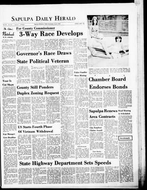 Primary view of The Sapulpa Daily Herald (Sapulpa, Okla.), Vol. 56, No. 267, Ed. 1 Wednesday, July 8, 1970