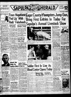 Primary view of Sapulpa Daily Herald (Sapulpa, Okla.), Vol. 37, No. 161, Ed. 1 Tuesday, March 11, 1952