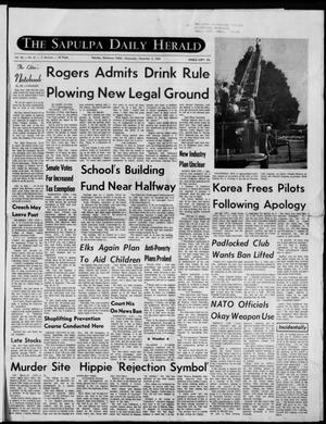 Primary view of The Sapulpa Daily Herald (Sapulpa, Okla.), Vol. 56, No. 81, Ed. 1 Wednesday, December 3, 1969