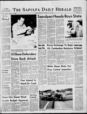 Primary view of The Sapulpa Daily Herald (Sapulpa, Okla.), Vol. 54, No. 243, Ed. 1 Wednesday, June 11, 1969