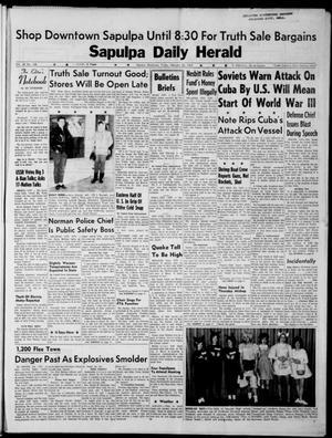 Primary view of Sapulpa Daily Herald (Sapulpa, Okla.), Vol. 48, No. 138, Ed. 1 Friday, February 22, 1963