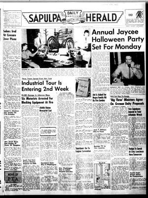 Primary view of Sapulpa Daily Herald (Sapulpa, Okla.), Vol. 41, No. 45, Ed. 1 Monday, October 24, 1955