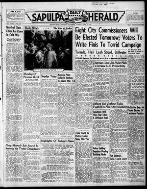 Primary view of Sapulpa Daily Herald (Sapulpa, Okla.), Vol. 36, No. 180, Ed. 1 Monday, April 3, 1950