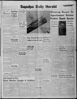Primary view of Sapulpa Daily Herald (Sapulpa, Okla.), Vol. 47, No. 281, Ed. 1 Wednesday, August 8, 1962