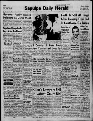 Primary view of Sapulpa Daily Herald (Sapulpa, Okla.), Vol. 45, No. 205, Ed. 1 Sunday, May 1, 1960