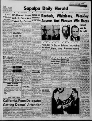 Primary view of Sapulpa Daily Herald (Sapulpa, Okla.), Vol. 45, No. 261, Ed. 1 Wednesday, July 6, 1960